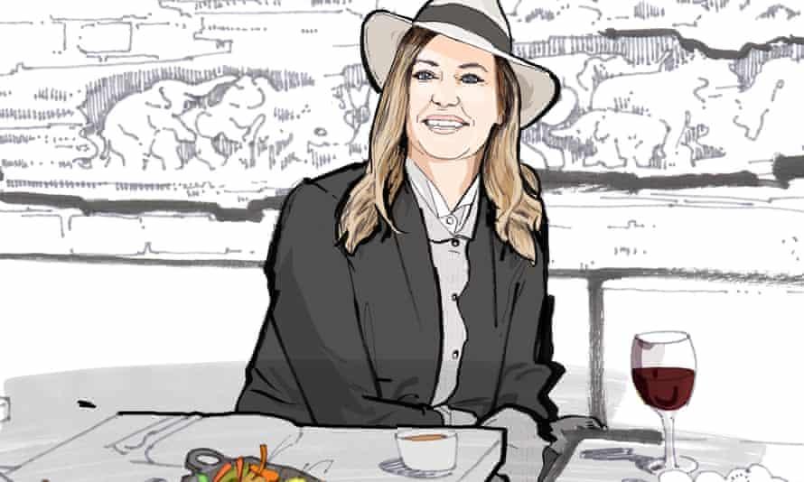 Lunch With Cerys Matthews illustration Observer Food Monthly OFM November 2019