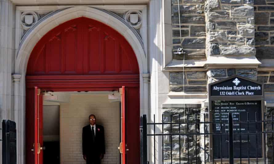 the Abyssinian Baptist Church in Harlem.