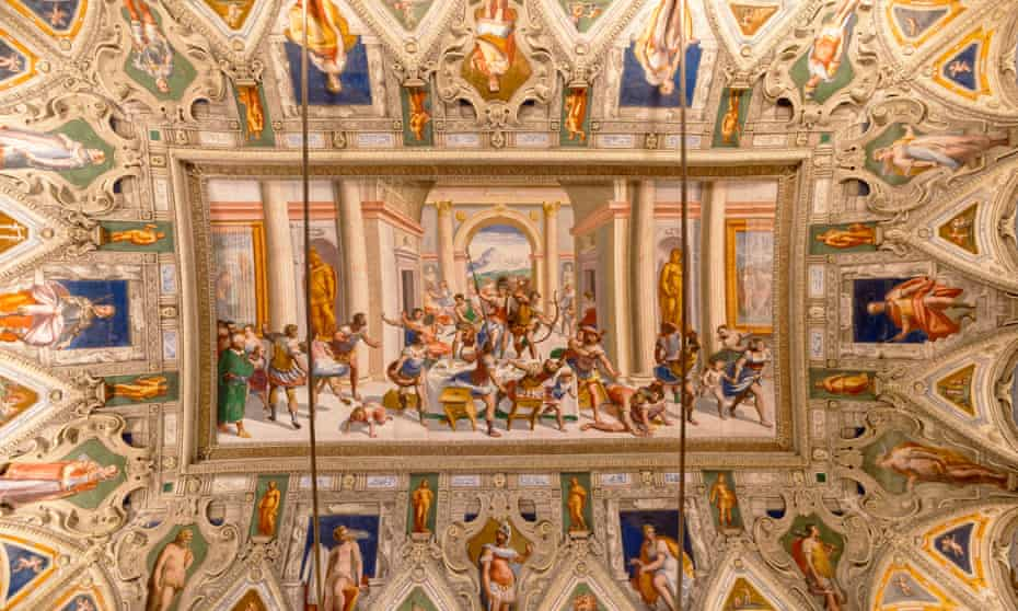 Ceiling frescos of Ulysses in Palazzo della Meridiana