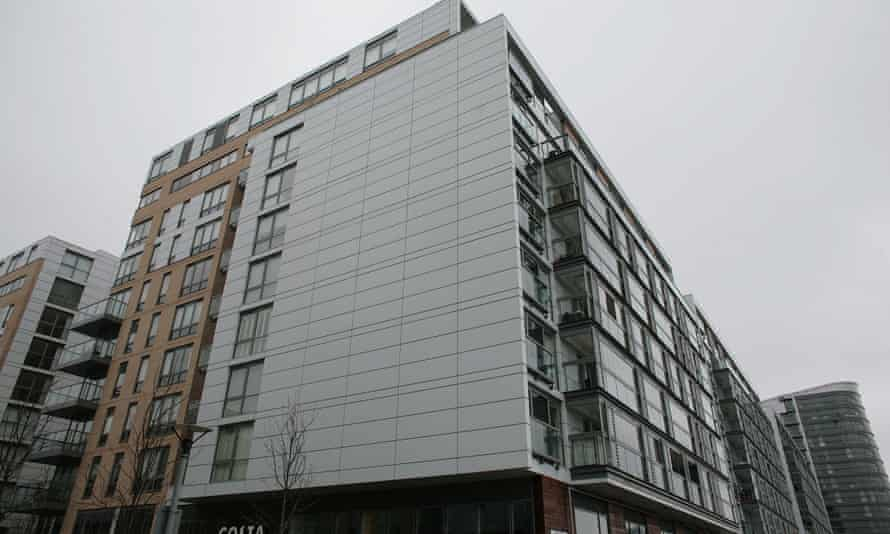 Grenfell-type cladding on the residential block