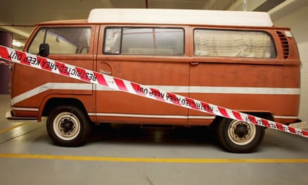 The Kombi van belonging Falconio and Lees.