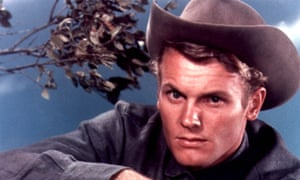 Tab Hunter in The Burning Hills, 1956, in which he starred with Natalie Wood.