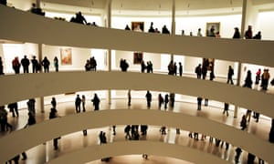 Visitors at the Guggenheim museum in New York