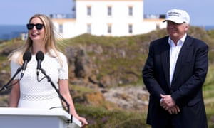Ivanka Trump, the daughter of Republican presidential candidate Donald Trump speaks at the opening of his Turnberry golf course, in Turnberry, ScotlandIvanka Trump, the daughter of Republican presidential candidate Donald Trump (R) speaks at the opening of his Turnberry golf course, in Turnberry, Scotland, Britain June 24, 2016. REUTERS/Clodagh Kilcoyne