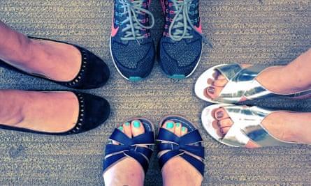 Women wearing flat shoes in the office #fawcettflats