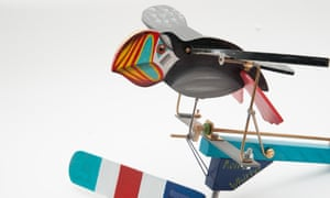 A mechanical toy bird made by Ron Fuller.