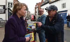 Victoria Ayling of Ukip campaigns in Sleaford