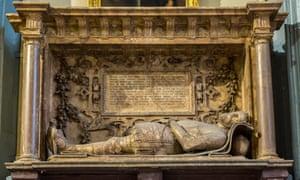 The monument to Sir Nicholas Throckmorton