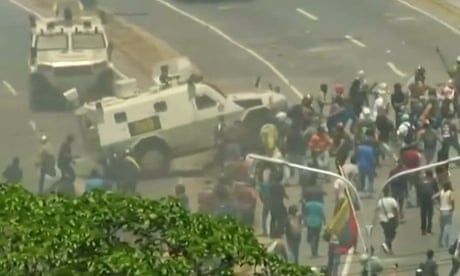 Venezuela crisis: Maduro claims coup has been 'defeated' – as it happened