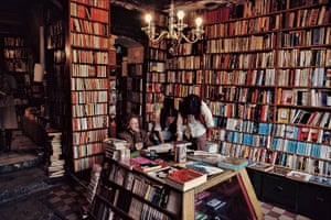 George Whitman in Shakespeare and Company