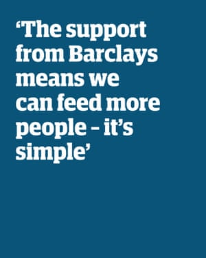 Quote: 'The support from Barclays means we can feed more people - it's simple'