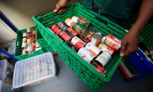 Food being sorted at a food bank