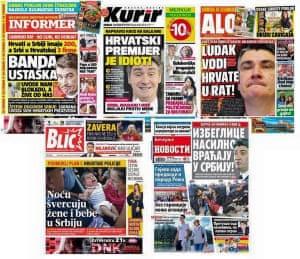 Serbian press hostility to Croatian prime minister Zoran Milanović
