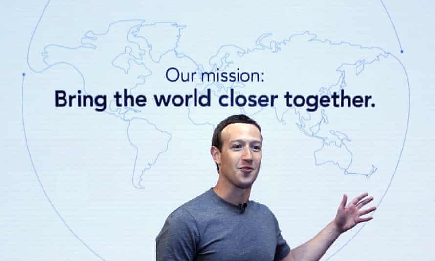 Mark Zuckerberg said that Facebook could fill the gap in people's lives left by the decline of churches.