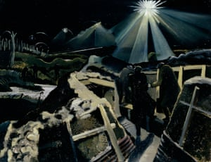 Paul Nash's The Ypres Salient at Night, 1918. Only a few of Paul Nash's works were chosen.