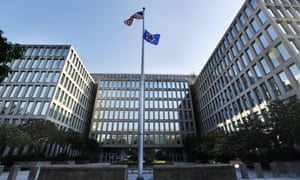 The US Office of Personnel Management in Washington from which data on more than 21 million people was extracted by hackers.