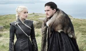 Game of Thrones Emilia Clarke as Daenerys Targaryen and Kit Harington as Jon Snow