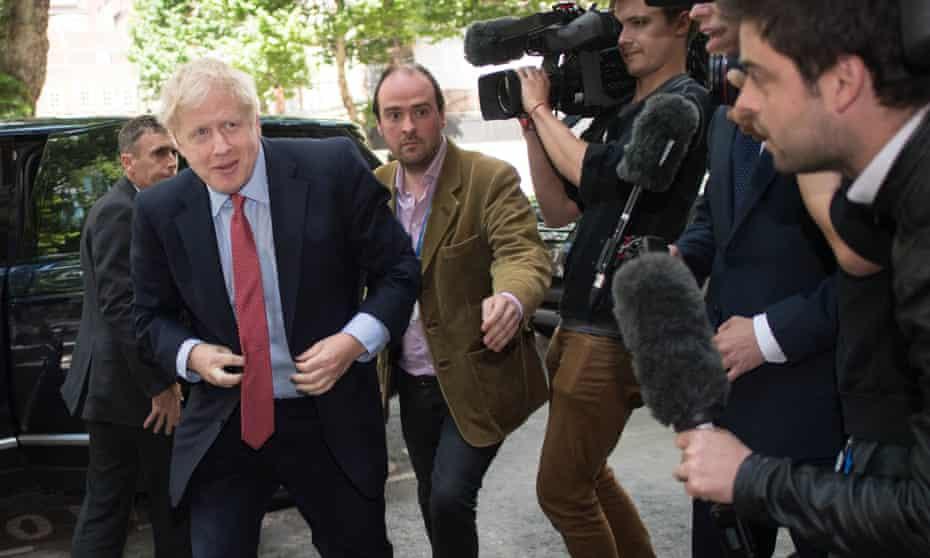 Boris Johnson arrives at an event in London last week.