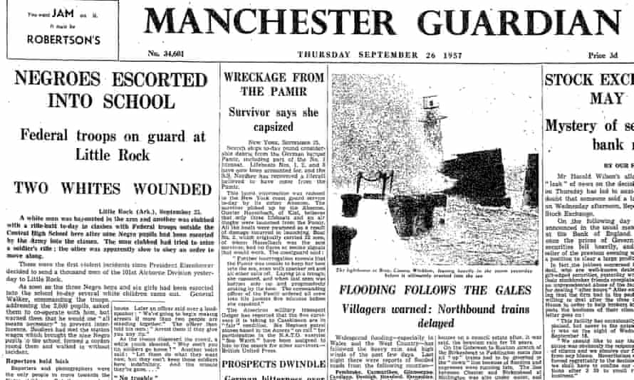 Manchester Guardian, 26 September 1957. Click to read the full article.