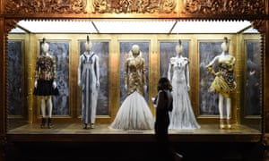 Alexander McQueen's Savage Beauty exhibition at the V&A in 2015.