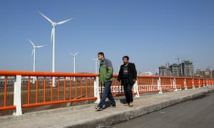 Wind turbines in Tianjin. China and the EU say they are determined to forge ahead with Paris and accelerate the global transition to clean energy.