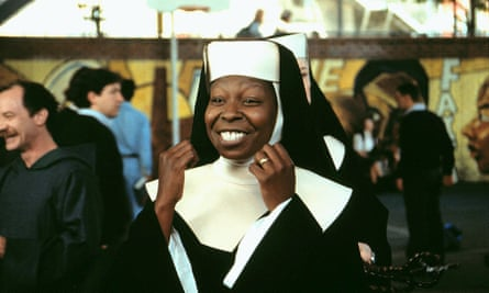 Whoopi Goldber as Deloris in the 1993 Sister Act 2.