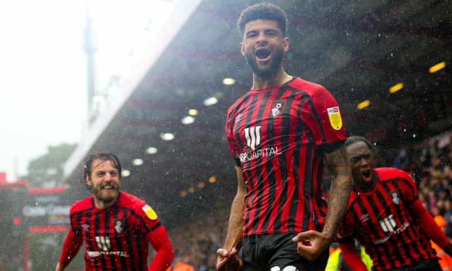 Philip Billing celebrates scoring Bournemouth's second against Sheffield United.