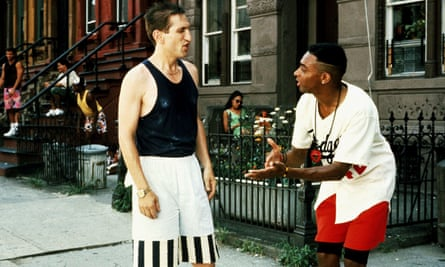 Richard Edson and Spike Lee in Do the Right Thing