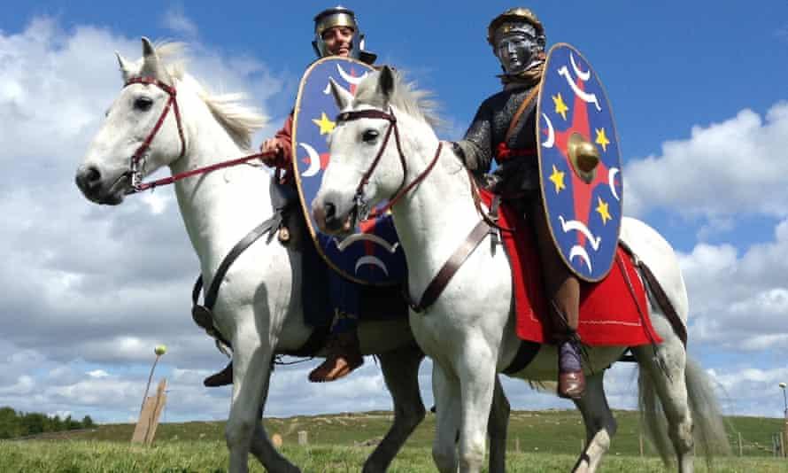 Roman imperial cavalrymen reconstructed.