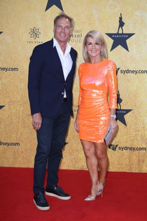 Julie Bishop and David Panton grace the red carpet.
