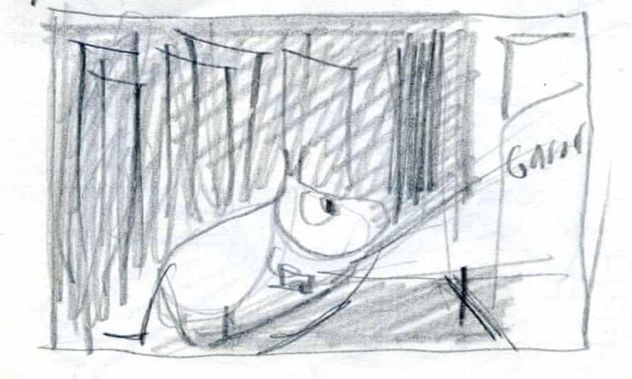A sketch of a Moomin by Tove Jansson.