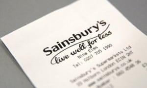 A Sainsbury's receipt