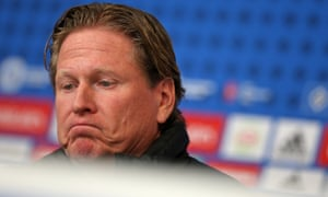 Markus Gisdol during his post-match press conference.