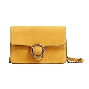 Yellow suede bag from mango