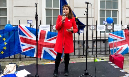 Siddiq speaks at a Women Against Brexit rally in central London, 2018.