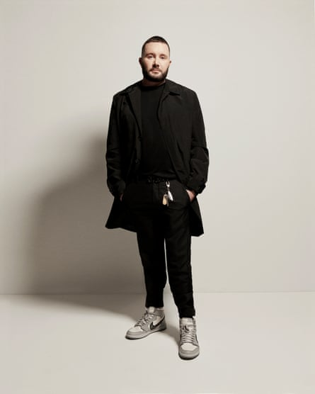 Dior's menswear designer, Kim Jones, in a pair of Air Diors