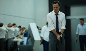 'There's a thin vein of dark humor but when we get to the nitty gritty of who's getting killed, it's sour, gruesome stuff' ... Tony Goldwyn in The Belko Experiment.