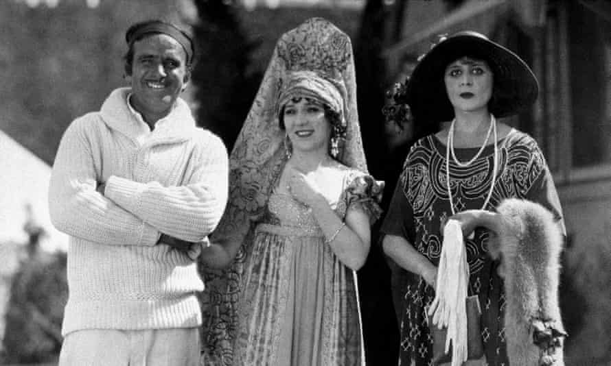 They started it … Douglas Fairbanks Snr, Mary Pickford and Theda Bara – the cream of celebrity culture, circa 1927.