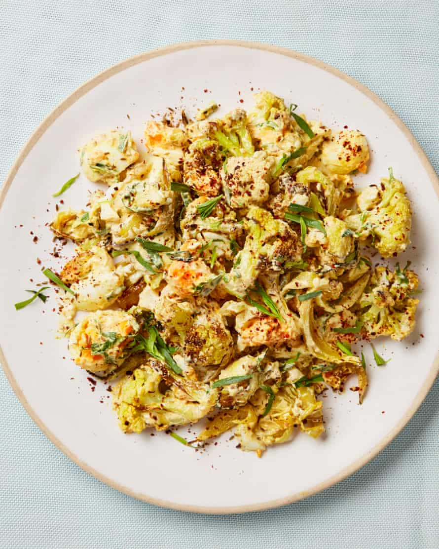 Yotam Ottolenghi's egg and curried cauliflower salad