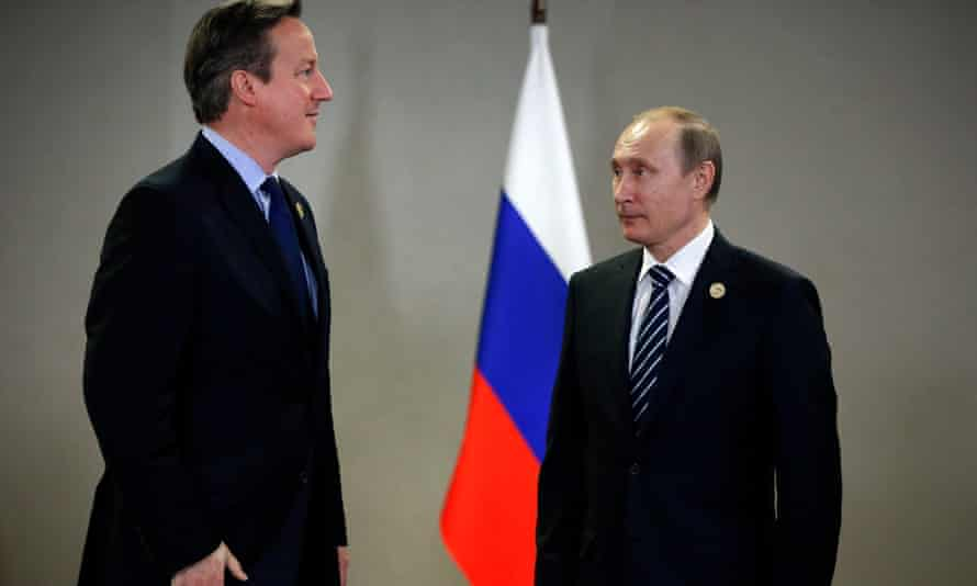 David Cameron has said the UK must work with Russia over the issue in Syria.