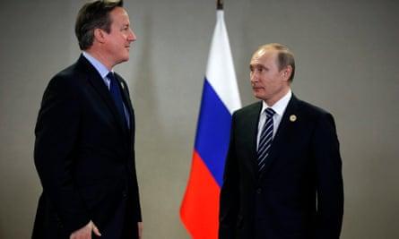 Vladimir Putin and David Cameron during the G20 summit in November 2015.