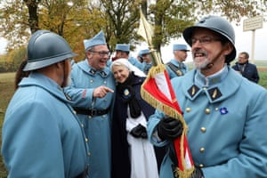People dressed in military uniforms in France