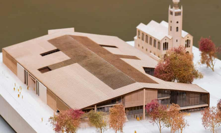 Model of the winning design by the Basel architects Herzog and de Meuron for the Museum of the 20th Century at the Kulturforum.