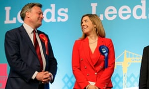 Ed Balls looks on as Andrea Jenkyns celebrates after being elected as MP for Morley and Outwood last year.