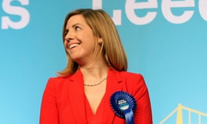 Andrea Jenkyns on the night of her election as MP for Morley and Outwood in 2015.
