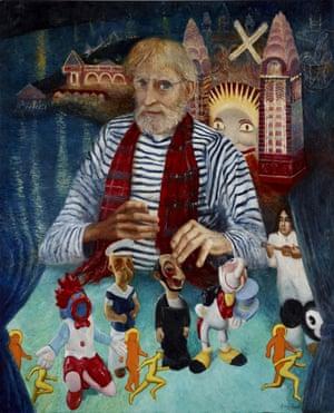 The artwork 'Martin Sharp and his magic theatre' by Australian artist Garry Shead.
