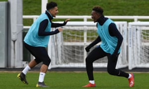 Jadon Sancho and Callum Hudson-Odoi impressed Gareth Southgate in training before England's Euro 2020 qualifier against Czech Republic.