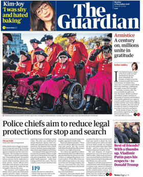 121118 Guardian front page