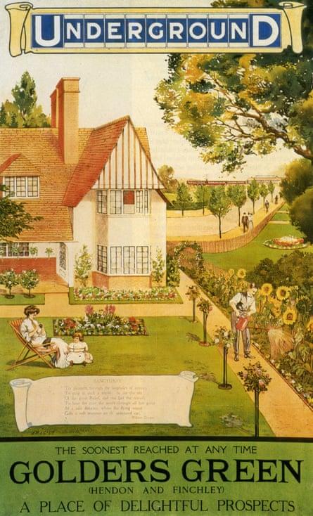 Escape to gender rigidity … a poster showing 'delightful' suburbia.