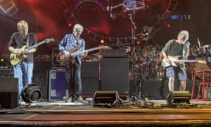 Trey Anastasio, from left, Phil Lesh and Bob Weir at the Fare Thee Well Show at Levi's Stadium on Sunday, June 28, 2015, in Santa Clara, California.